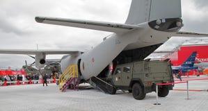 Aéronefs spartiates de cargaison commune de C27J Image libre de droits