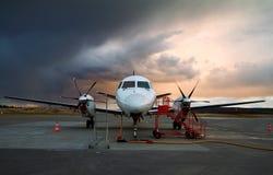 Aéronefs stationnés. Photo stock