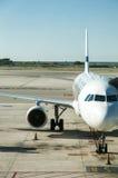 Aéronefs stationnés Photo libre de droits