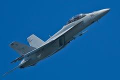 Aéronefs superbes de frelon de Boeing F/A-18F Photo libre de droits