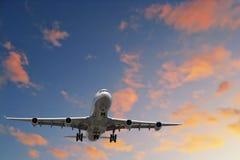 Aéronefs sur la finale Images libres de droits