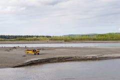 Aéronefs sur la toundra arctique Photographie stock
