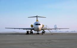 Aéronefs sur le macadam Photo libre de droits