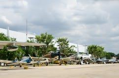 Aéronefs sur le musée thaï royal de l'Armée de l'Air Images libres de droits