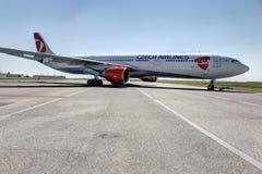 Aéronefs tchèques de compagnies aériennes Image stock