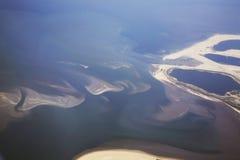 Aérophotographie de la Mer du Nord netherlands photo stock