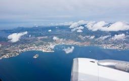Aéroporté au-dessus de la baie de Palma Photo stock