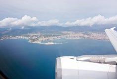 Aéroporté au-dessus de la baie de Palma Image stock