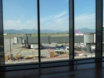 Aéroport à Bergame Orio Al Serio Images stock
