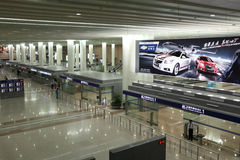 Aéroport à Changhaï, Chine Images libres de droits
