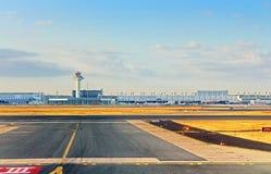 Aéroport à Francfort, Allemagne Image libre de droits