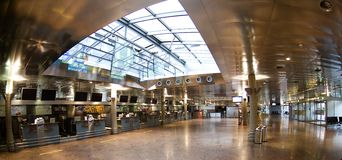 Aéroport à Innsbruck - signez Images stock