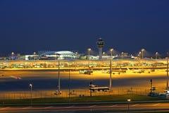 Aéroport à Munich, Bavière Photographie stock libre de droits