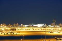 Aéroport à Munich, Bavière Photos libres de droits