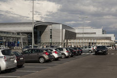 Aéroport à Poznan, Pologne Photographie stock libre de droits