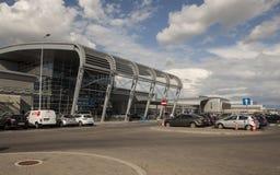 Aéroport à Poznan, Pologne Photographie stock