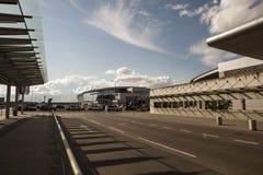 Aéroport à Poznan, Pologne images libres de droits