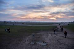 Aéroport abandonné du Tempelhof à Berlin Images libres de droits