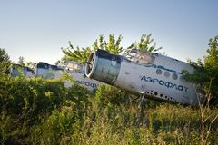 Aéroport abandonné Vieux avions soviétiques Antonov An-2 Photo libre de droits
