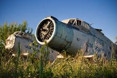 Aéroport abandonné Vieux avions soviétiques Antonov An-2 Image libre de droits