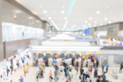 Aéroport abstrait de tache floue Images stock