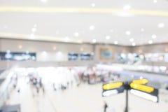 Aéroport abstrait de tache floue Photographie stock