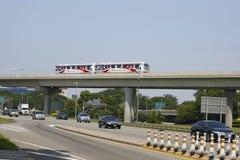 Aéroport AirTrain de JFK à New York Photo libre de droits