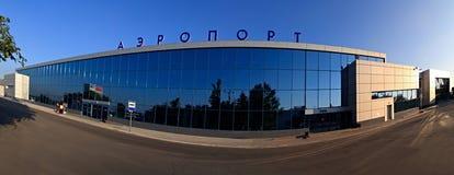 Aéroport après la reconstruction. Image stock