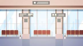 Aéroport attendant Hall Departure Terminal Interior Check dedans Photos stock