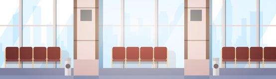 Aéroport attendant Hall Departure Terminal Interior Check dedans Photographie stock libre de droits