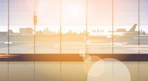 Aéroport attendant Hall Departure Terminal Interior Check dedans Photos libres de droits