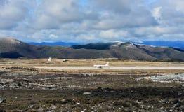 Aéroport au plateau du Thibet Images stock