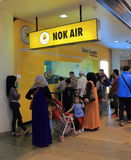 Aéroport Bangkok Thaïlande de Don Mueang d'air de NOK Photos stock