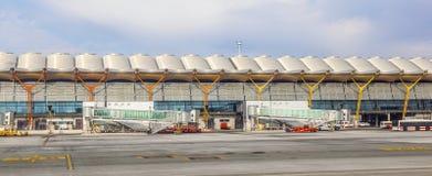 Aéroport Barajas à Madrid Photo libre de droits