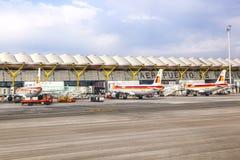 Aéroport Barajas à Madrid Photos libres de droits