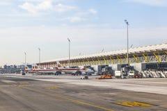 Aéroport Barajas à Madrid Images libres de droits