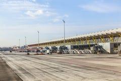 Aéroport Barajas à Madrid Image libre de droits