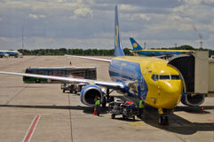 Aéroport Boryspil de Kyiv Photo stock