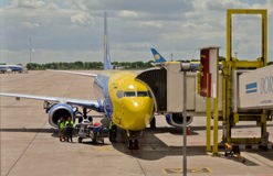 Aéroport Boryspil de Kyiv Photos libres de droits