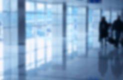 Aéroport brouillé de fond Photos libres de droits