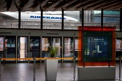 Aéroport Charles de Gaulle - Paris Images libres de droits