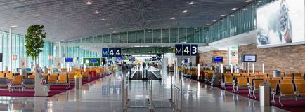 Aéroport Charles de Gaulle - Paris Photo libre de droits