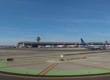 Aéroport d'Adolfo Suarez dans Madrid-Barajas Images stock