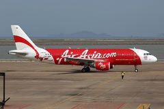 Aéroport d'Air Asia Airbus A320 Macao Images stock