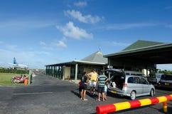 Aéroport d'Aitutaki dans le cuisinier Islands de lagune d'Aitutaki Photos libres de droits