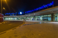 Aéroport d'Al Maktoum International au secteur central du monde de Dubaï Photo stock