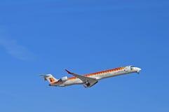 Aéroport d'Alicante de lignes aériennes d'Ibérie Image libre de droits