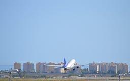 Aéroport d'Alicante de lignes aériennes de SAS Image stock