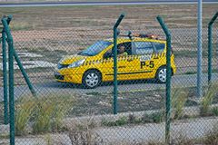Aéroport d'Alicante de véhicule d'aéroport Photos stock