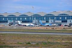 Aéroport d'Alicante Elche Photo stock
